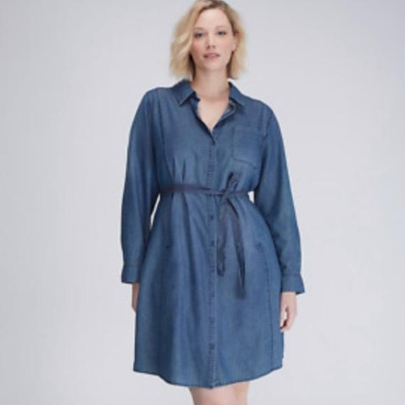 2ad3a5b6fce Lane Bryant Dresses   Skirts - Lane Bryant Denim Dress